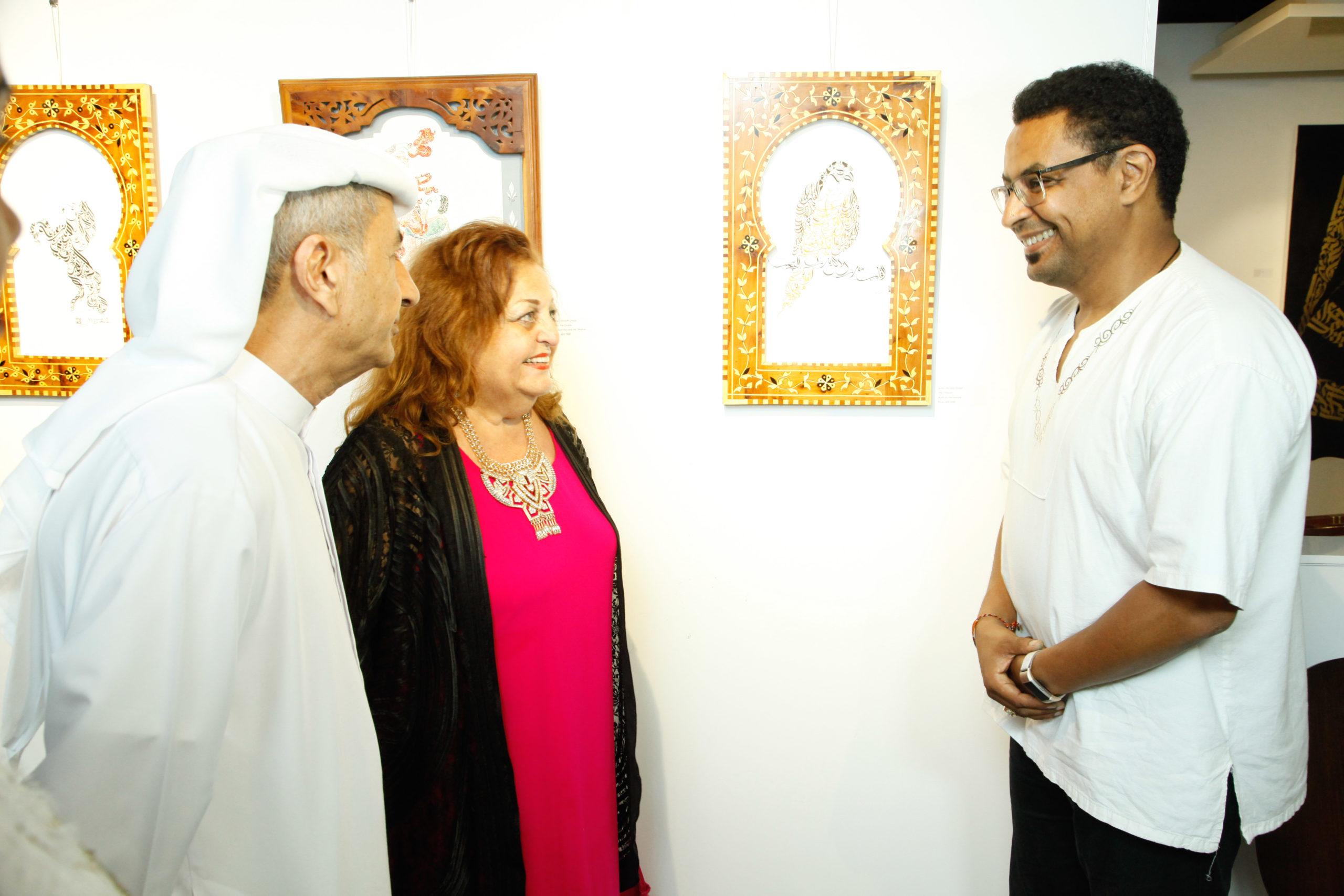 Exposition à Dubai - Calligraphie arabe par Hicham Chajai